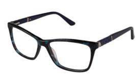 Nicole Miller Bateau Eyeglass Frames Blue Navy Tortoise 55-15-140 - $119.95