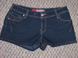 womens bongo dark denim jeans short size 5 28 - $16.82