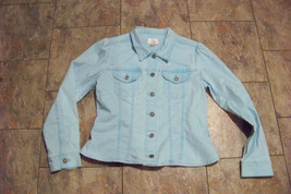womens christopher & banks faded light blue wash button front jeans jack... - $22.76