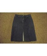 womens gap dark wash front slit denim jeans skirt size 10 30 - $16.82