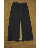 womens gap ankle length front slit dark wash denim jeans skirt size 4 29 - $18.80