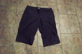 womens gap dark wash cuffed leg denim jeans shorts size 2 29 - $16.82