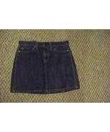 womens gap dark wash denim mini jeans skirt size 6 30 - $16.82