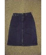 womens gap medium wash denim jeans skirt size 6 30 - $16.82
