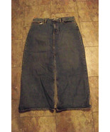 womens gap medium wash long denim jeans skirt size 16 35 - $20.78