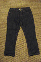 womens rocawear dark wash denim jeans capris size 5 29 x 24 - $19.79