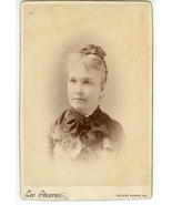 Cabinet Card Photograph Portrait Woman Matron by Lee Stearns of Wilkes B... - $5.00