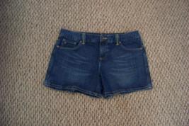 womens tommy hilfiger faded dark wash denim jeans shorts size 10  33 - $16.82