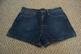 womens tommy hilfiger faded dark wash denim jeans shorts size 8 31 - $16.82