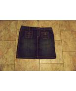 womens tommy hilfiger faded dark wash denim jeans skirt size 8 32 - $16.82