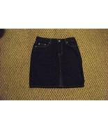 womens tommy hilfiger front slit dark wash denim jeans skirt size 5 27 - $16.82