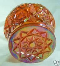 Diamond Finger Bowl Tangerine Carnival Glass Mosser - $16.36