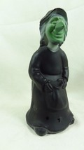 """Fenton 7"""" Black Halloween Air Brushed Sand Carved Gilda the Witch One of a Kind - $117.80"""