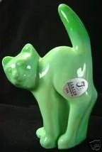 Fenton Scaredy Cat Chameleon Green Halloween Kitty - $35.06