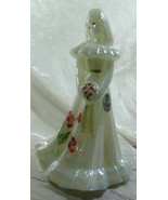 Fenton Bridesmaid Doll Mother of Pearl Hand Painted Pink Flowers - $81.33