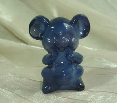 "2"" Willie The Mouse Heather Grey Solid Glass by Boyd 1992 - $9.49"