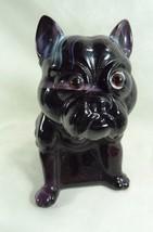 French Bulldog Door Stop Purple & White Slag Boxer Pug - $116.88