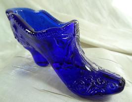 Bow Slipper Cobalt Blue Glass Glass Shoe Mosser - $14.95