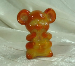 "2"" Willie The Mouse Orange Spice Solid Glass by Boyd 1990 - $9.49"