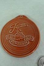 Fiesta-CHRISTMAS-Ornament-75th Anniversary Scarlet Homer Laughlin Co HLC - $11.99