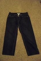 womens white house black market faded black wash denim jeans capris size noir 4 - $18.80