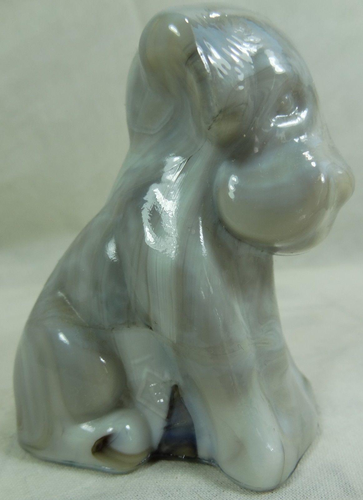 Boyd Pooche Dog Toffee Slag Glass Pooch 5/5/2000 Brown Carmel Slag - $23.36