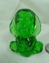 "Guernsey 2"" Dog Solid Glass Columbia Green Harold Bennett - $6.79"