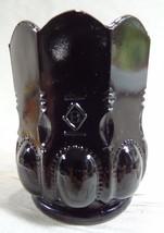 Beaded Oval Toothpick Holder Classic Black Glass 10-18-1991 Ebony - $16.81