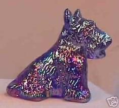 Duke Scottie Scottish Terrier Dog Cobalt Blue Carnival - $15.88