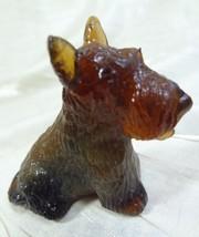 Duke Scottie Scottish Terrier Dog Dark Ginger Glass 4/7/2003 - $15.88