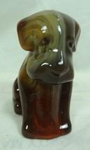 Boyd Pooche Dog Nutmeg Glass Pooch 1-18-1999 Chocolate Slag - $23.36