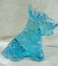 Duke Scottie Scottish Terrier Dog Sea Mist Carnival Solid Glass 5-17-2007 - $17.99