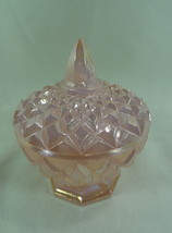 Boyd Child's Covered Dish Crown Tuscan Carnival Glass 9/27/1990 Trinket box - $20.56