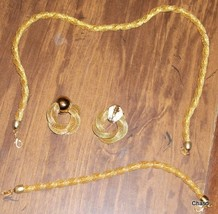 Gold Rope Like Jewelry Set from Avon - $10.00