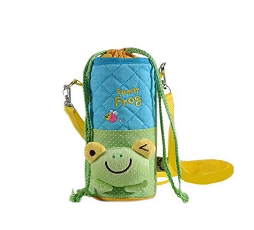 Lovely Kindergarten Green Frog Bottle Messenger Bag (228CM)