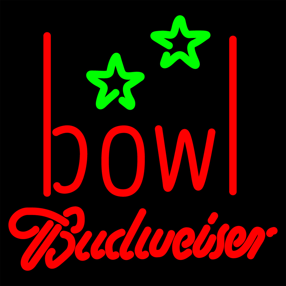 Primary image for Budweiser Bowling Alley Neon Sign