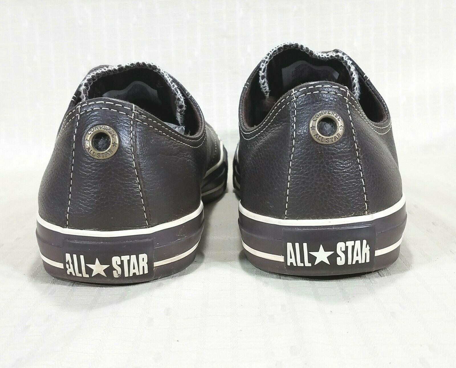 Converse All Star European Ox Leather Low Sneakers Mens 11 Espresso Brown 1J861