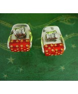 Moveable dice Cuff links THAT SPIN Craps table Casino Cufflinks Vintage ... - $295.00