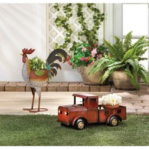 Red Truck Solar Light Iron Planter - $59.95