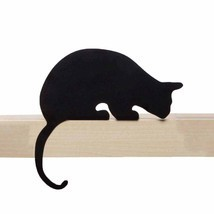 Design Cat Home Gift Shelve Metal Black Shelf Decor Elegant SOHO Lifesty... - €21,00 EUR