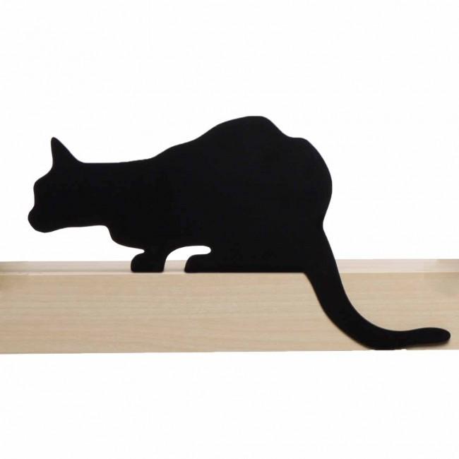 Shelve Design Metal Black Shelf Decor Cat Home Gift Elegant SOHO Lifestyle Room - $25.00