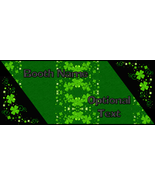 St Patrick's Day Shamrock Bonanza Booth Banner Graphic Design Digital We... - $10.00
