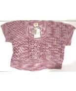 Anthropologie Augden NY Crocheted Sweater sz M Hydrangea lavender NEW $258 - $40.00