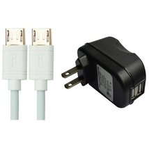 RND 2.4A fast dual USB AC adapter with two micro USB cables (2 USB ports... - $22.99