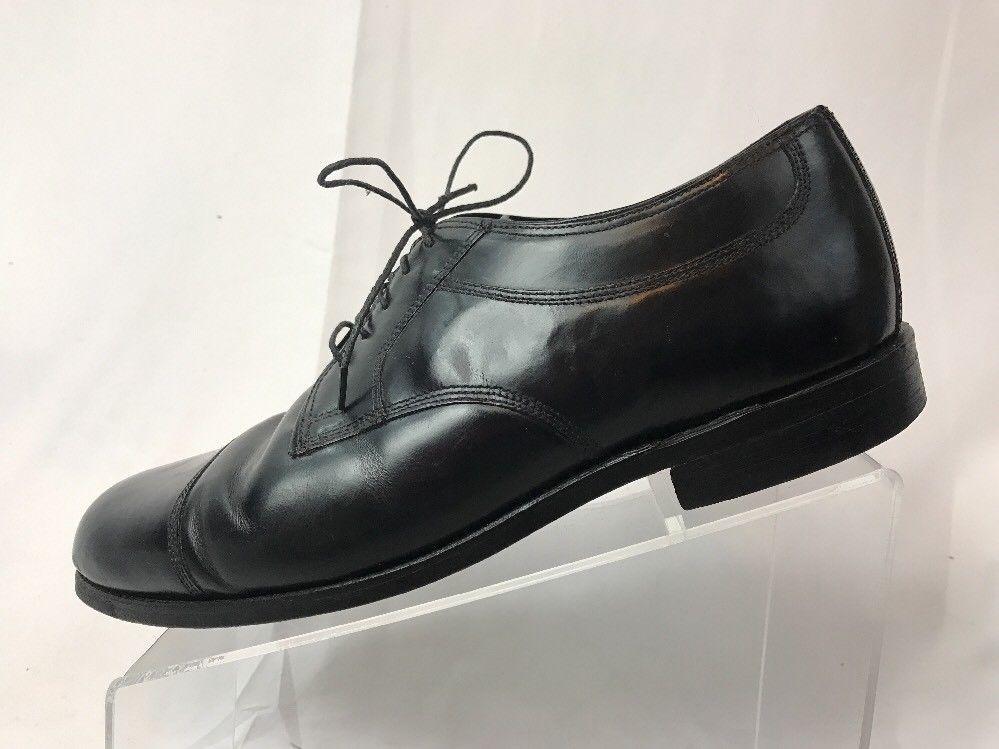 f56b440a3fb S l1600. S l1600. Previous. Men s Bostonian Crown Windsor Cap Toe Black  Leather Dress Shoes Size 9.5 E C
