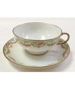 Wm. Guerin Limoges France Porcelain Tea Cup & S... - $26.24