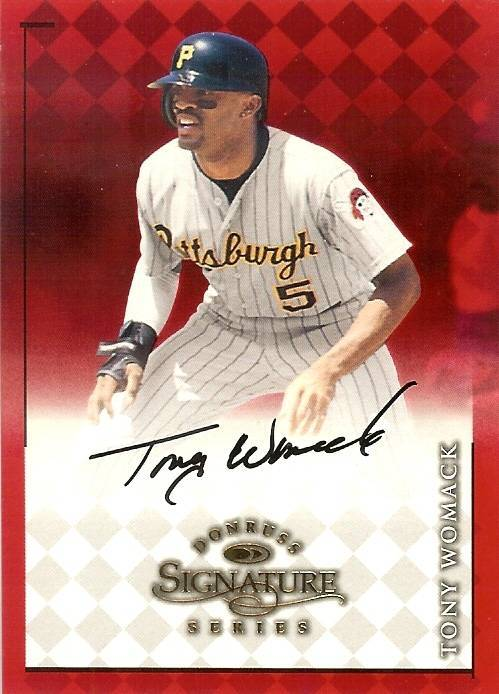 Primary image for 1998 donruss signature tony womack autograph pirates baseball card