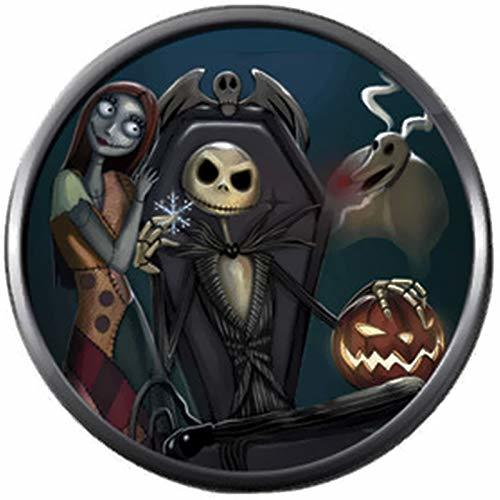 Primary image for Sally & Jack in Chair Nightmare Before Christmas 18MM - 20MM Snap Jewelry Charm