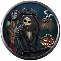 Sally & Jack in Chair Nightmare Before Christmas 18MM - 20MM Snap Jewelry Charm - $5.95