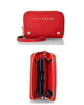 NWT Juicy Couture Saffiano Leather Tech Wristlet Zip Around Wallet, Red - $53.99